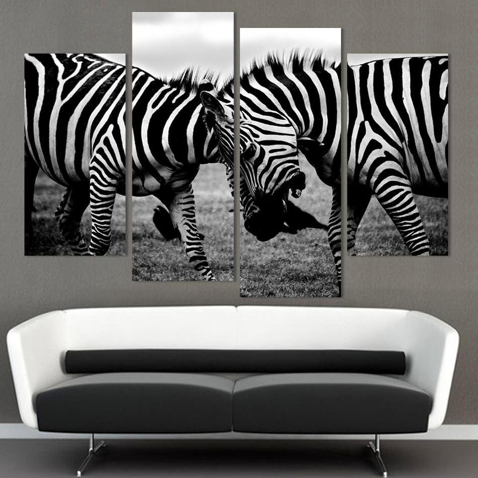 Zebra Wall Art Canvas Promotion Shop For Promotional Zebra Wall With Zebra Wall Art Canvas (Image 18 of 20)