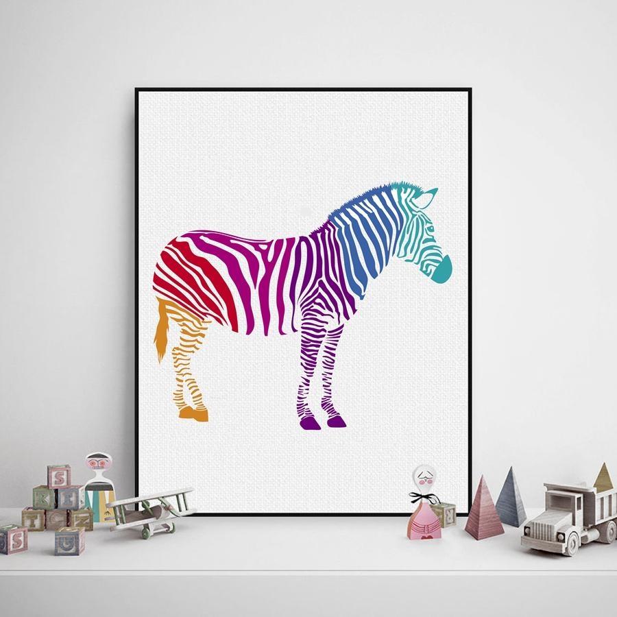Zebra Wall Art Promotion Shop For Promotional Zebra Wall Art On For Zebra Wall Art Canvas (View 7 of 20)