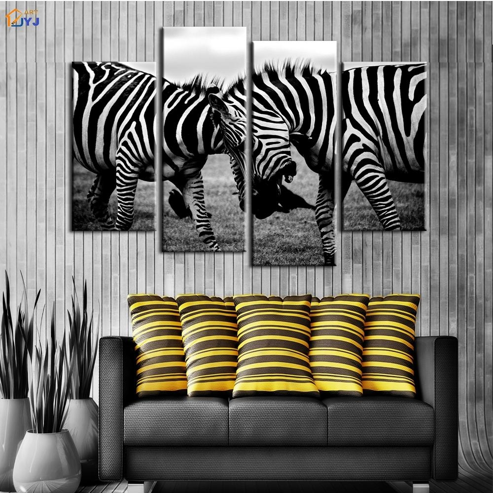 Zebra Wall Art Promotion Shop For Promotional Zebra Wall Art On With Zebra Wall Art Canvas (Photo 20 of 20)