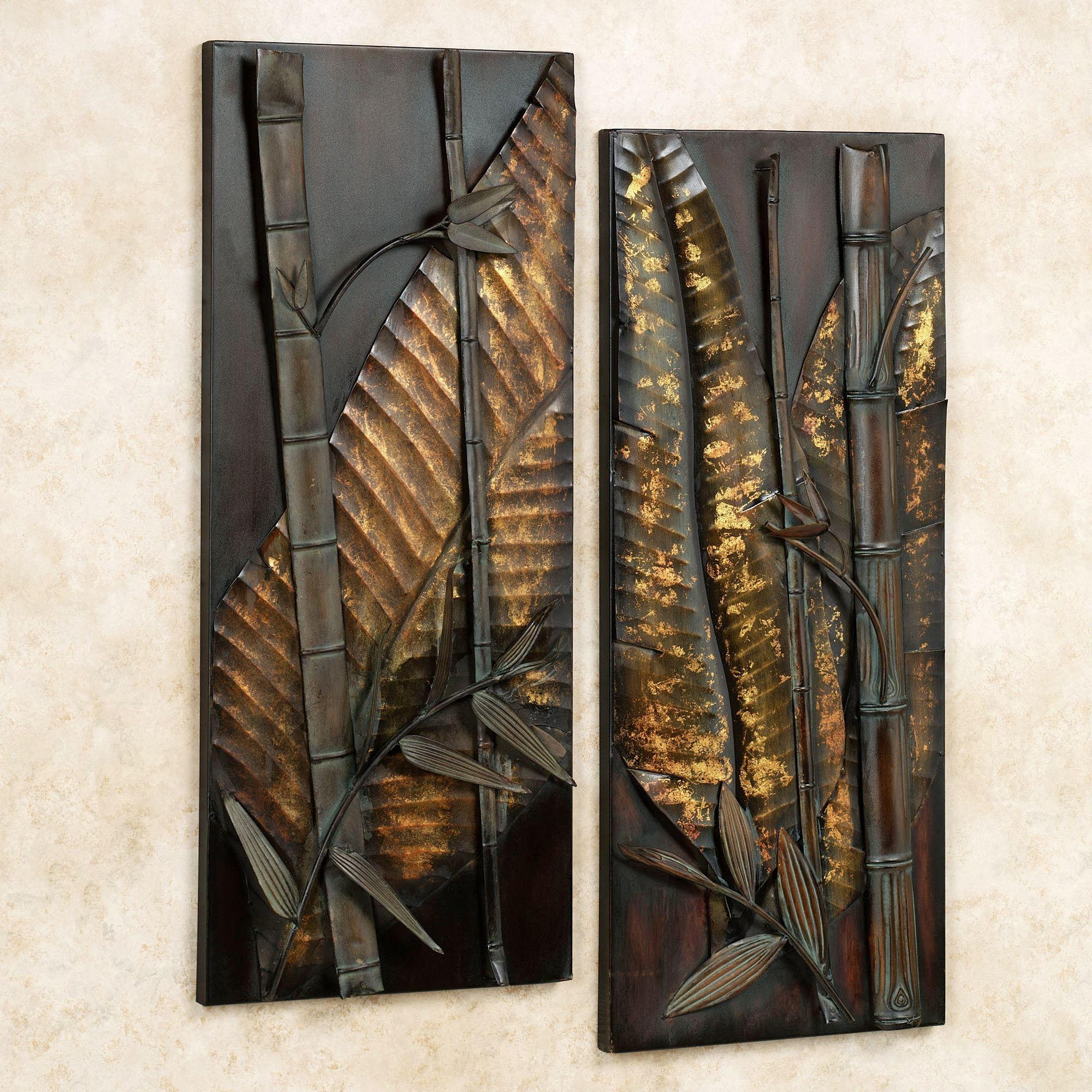 Zen Essence Metal Wall Art Set inside Metal Wall Art