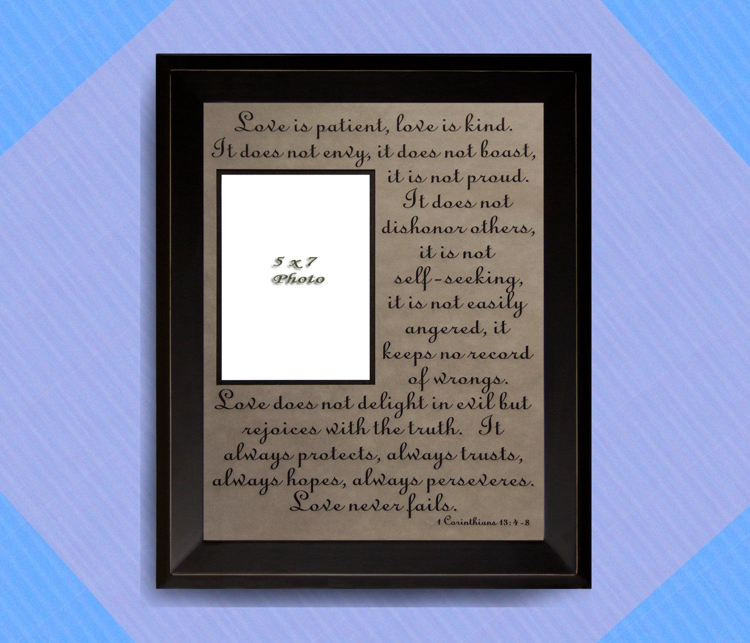 1 Corinthians 13: 4 8, Love Is Patient, Love Is Kind, Love Never Regarding Love Is Patient Love Is Kind Wall Art (Image 1 of 20)