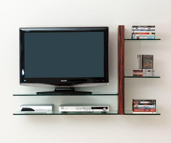 10 Best Wall-Mounted Flat Screen Tv Shelves Images On Pinterest inside Best and Newest Shelves For Tvs On The Wall