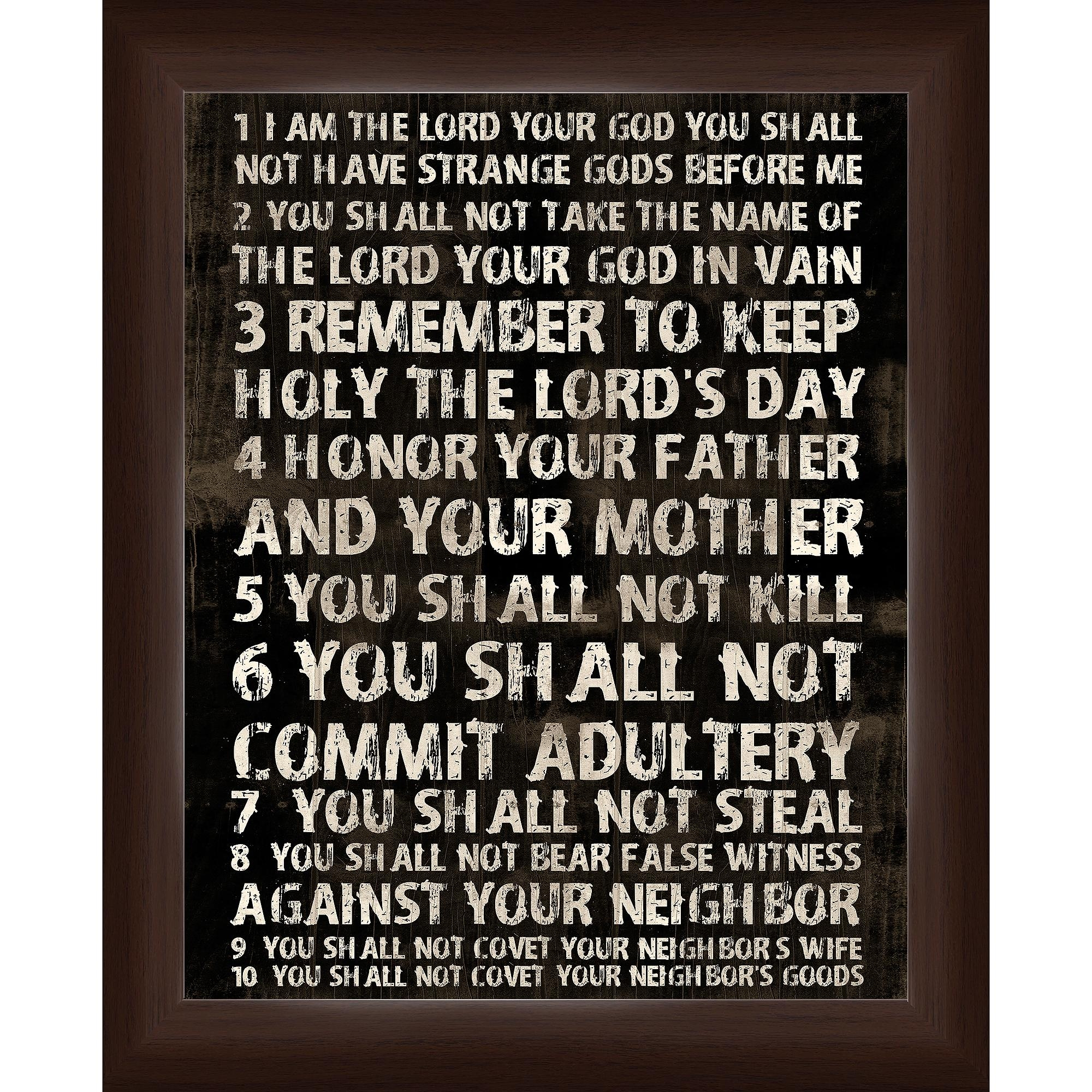 10 Commandments Wall Art – Walmart Regarding Ten Commandments Wall Art (View 2 of 20)
