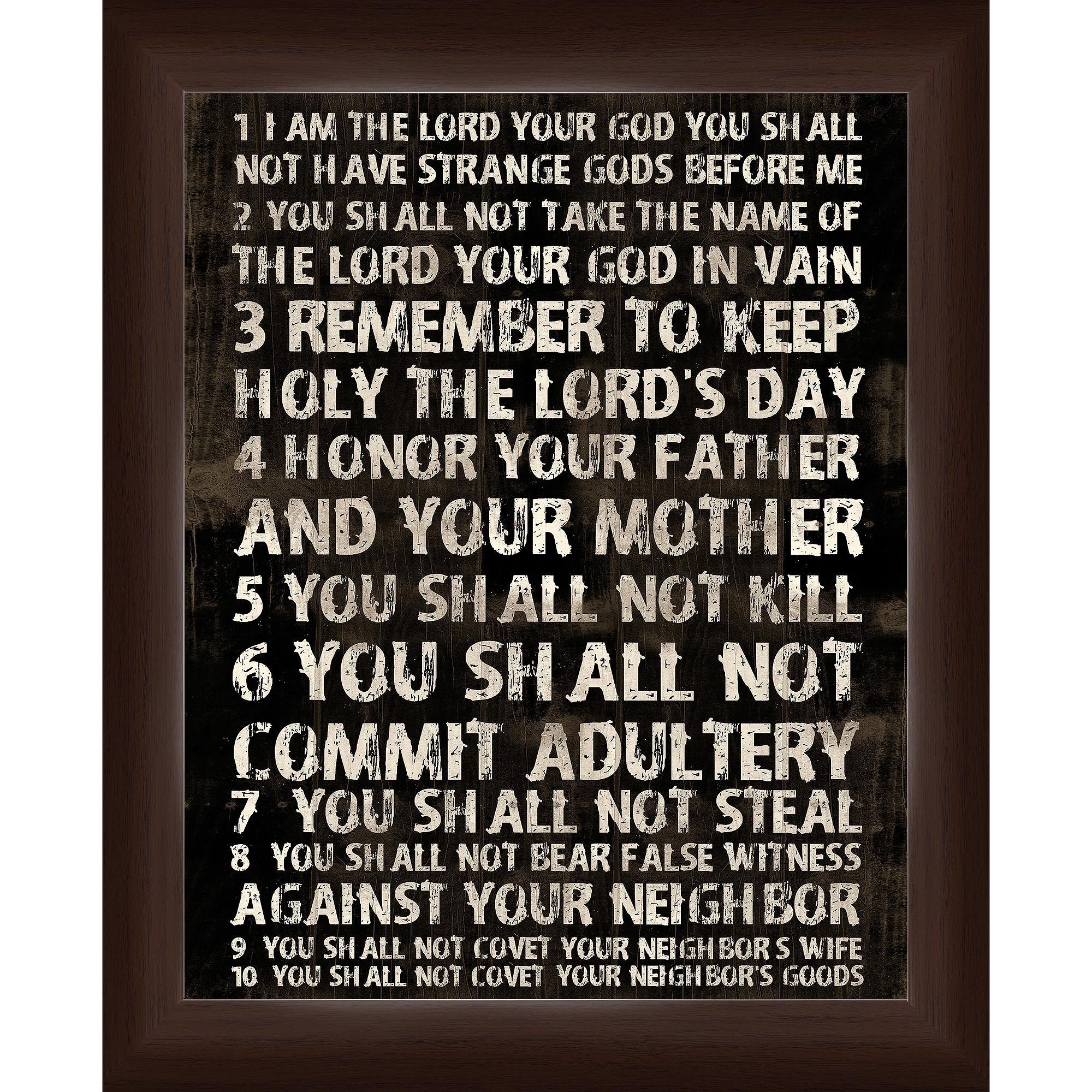 10 Commandments Wall Art – Walmart Regarding Ten Commandments Wall Art (Image 2 of 20)