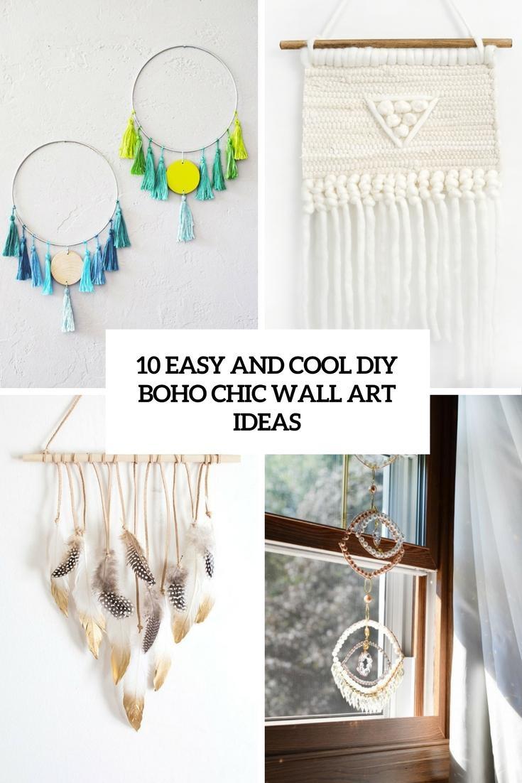 10 Easy And Cool Diy Boho Chic Wall Art Ideas – Shelterness With Boho Chic Wall Art (View 2 of 20)