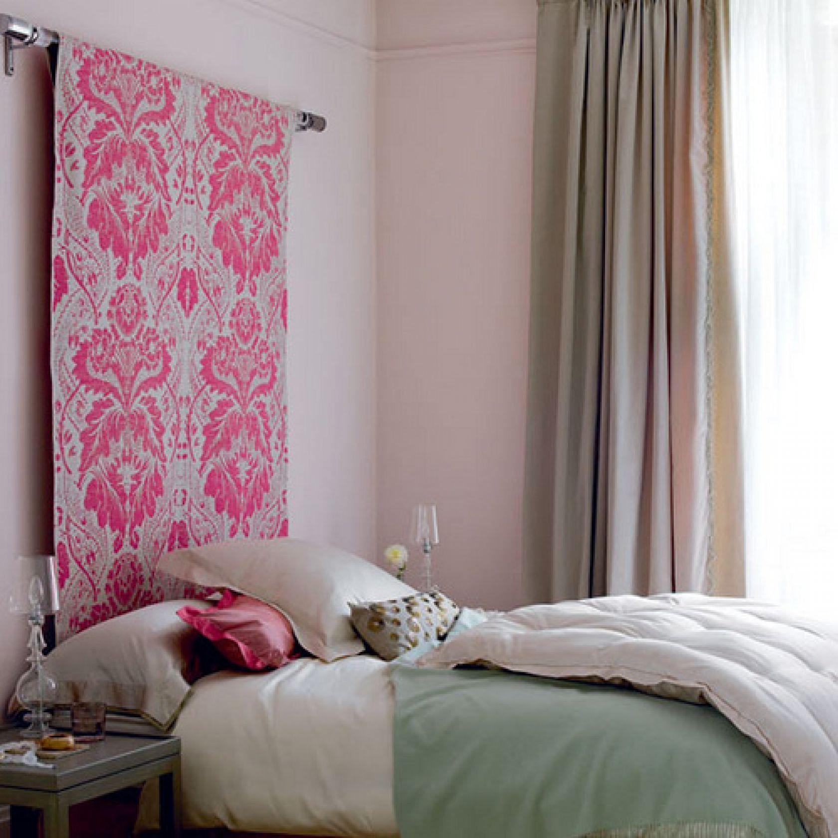 Как задекорировать стену тканью своими руками фото