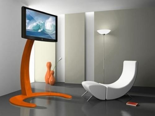 10 Simple And Elegant Tv Stands Ideas Attractive Everyone In Your Inside Most Up To Date Orange Tv Stands (Image 1 of 20)