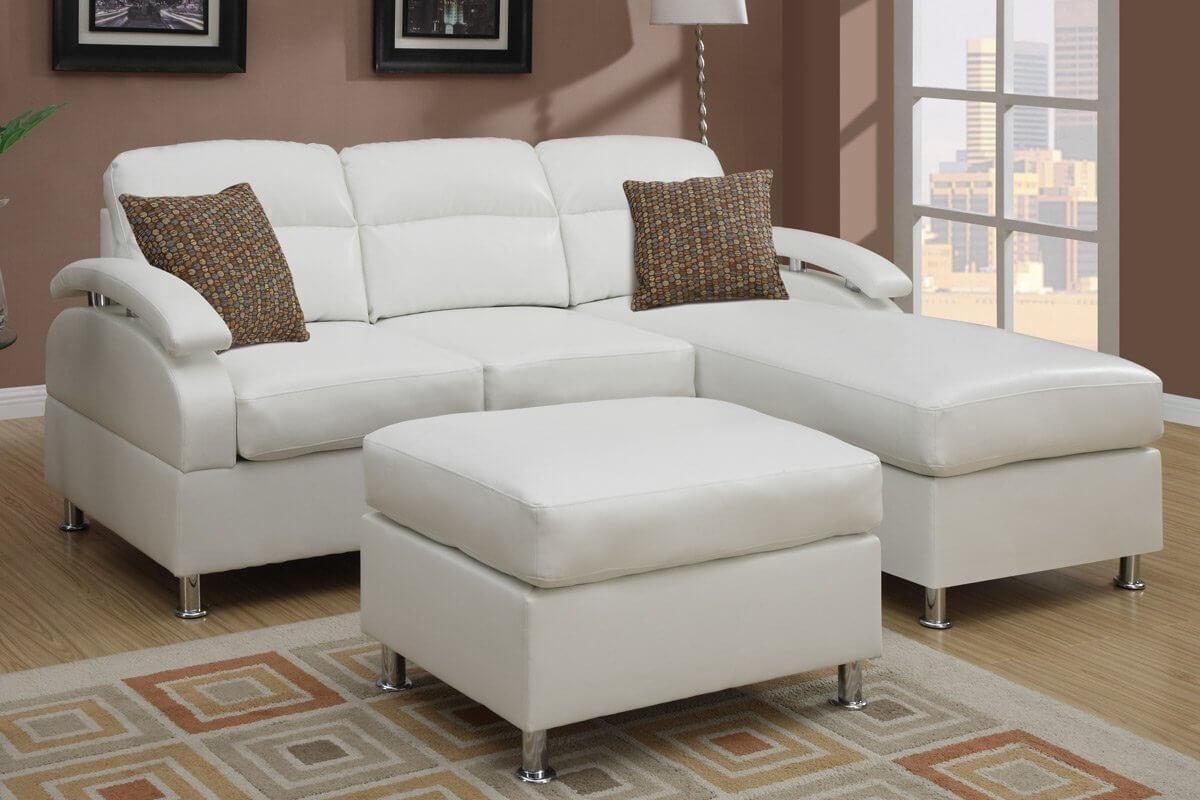 100 Beautiful Sectional Sofas Under $1,000 Pertaining To Cream Sectional Leather Sofas (Image 1 of 22)