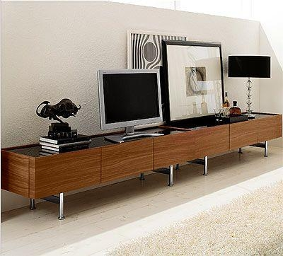 11 Best Tv And Entertainment Images On Pinterest | Contemporary within Best and Newest Long Tv Stands Furniture