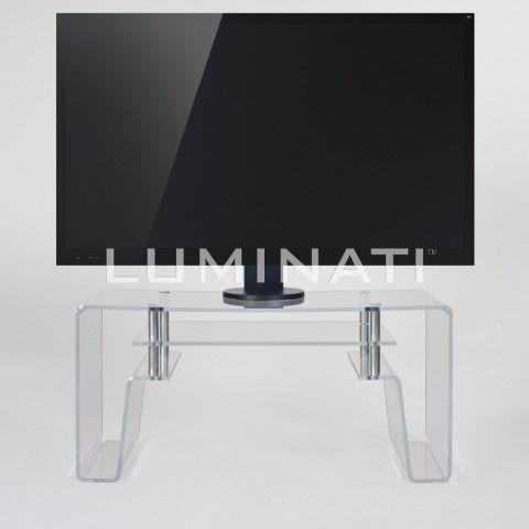 11 Best Tv Ideas Images On Pinterest | Flat Screen Tvs, Tv Stands With Current Acrylic Tv Stands (Image 1 of 20)