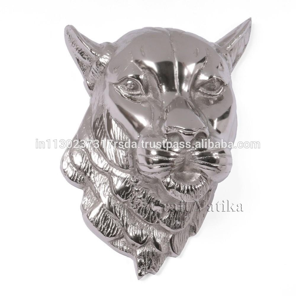 "11"" Large Tiger Head Wall Hanging Metal Sculpture Animal Mask Art With Regard To Metal Animal Heads Wall Art (View 14 of 20)"