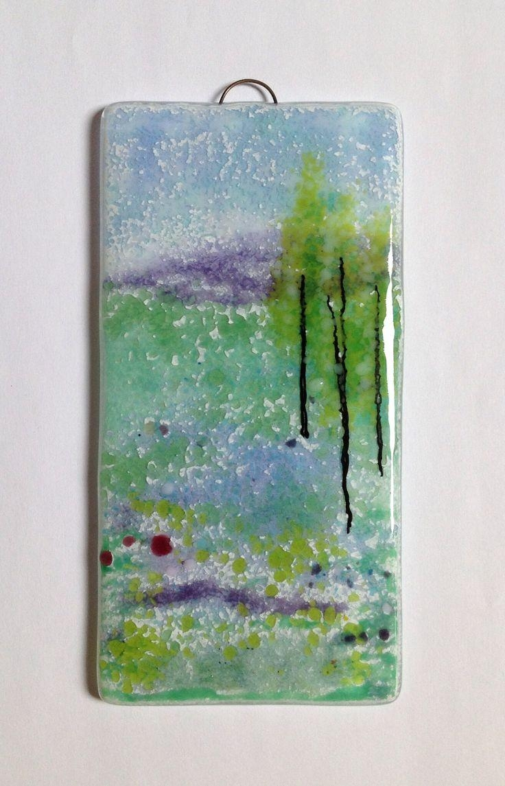 111 Best Fused Glass Wall Art – Panels – Hangings – Candle Screens In Purple Fused Glass Wall Art (Image 1 of 20)