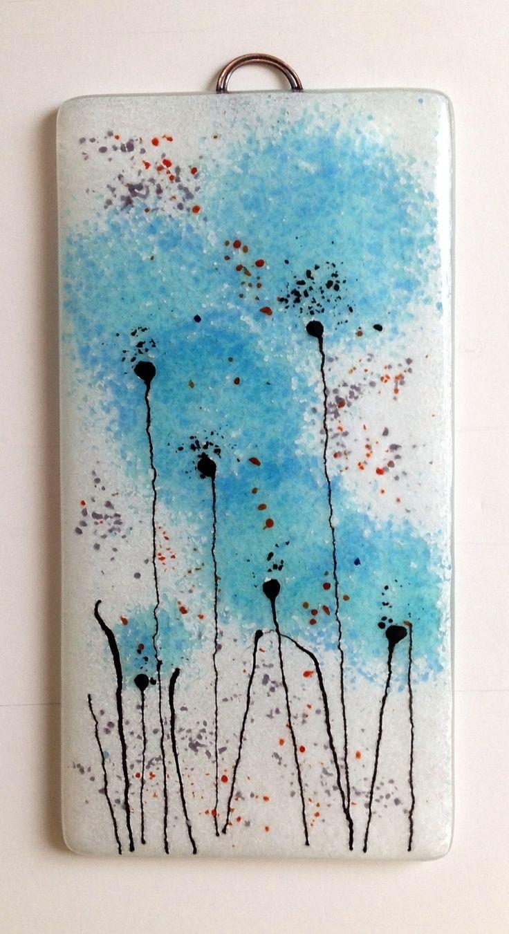 111 Best Fused Glass Wall Art – Panels – Hangings – Candle Screens Pertaining To Fused Glass Flower Wall Art (View 4 of 20)