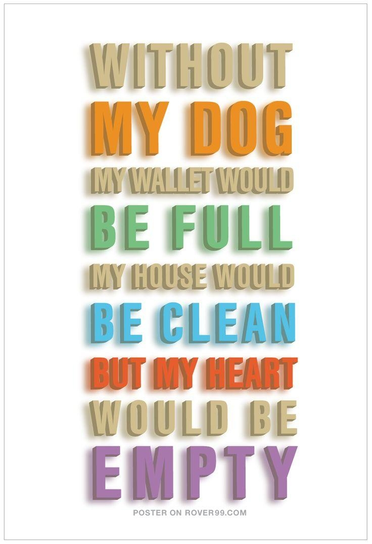 118 Best Dog Quotes Images On Pinterest | Dog Quotes, Animals And For Dog Sayings Wall Art (Image 1 of 20)