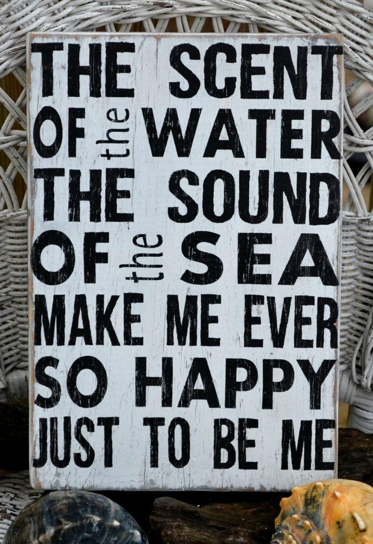 119 Best Beach Signs Images On Pinterest | Wooden Signs, Beach Throughout Wooden Word Art For Walls (Image 1 of 20)