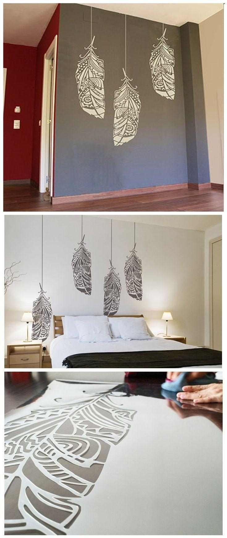 12 Awesome Wall Décor Ideas To Make Up Your Home | Ethnic Decor With Stencil Wall Art (Image 1 of 20)