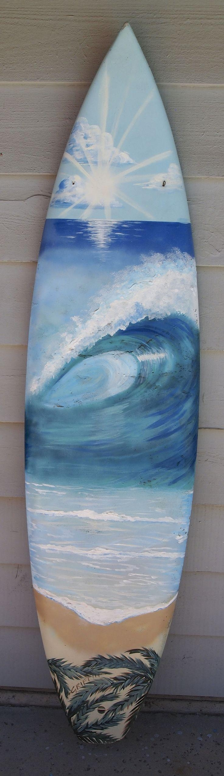 12 Best Surfboard Wall Art Murals Images On Pinterest | Griffins With Regard To Surf Board Wall Art (Image 2 of 20)