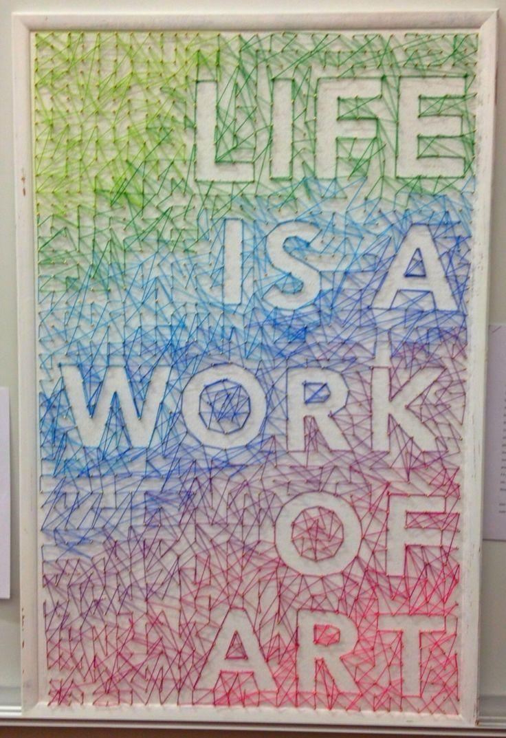 128 Best String Art Images On Pinterest | String Art, Nail String With Regard To Nail And Yarn Wall Art (View 18 of 20)