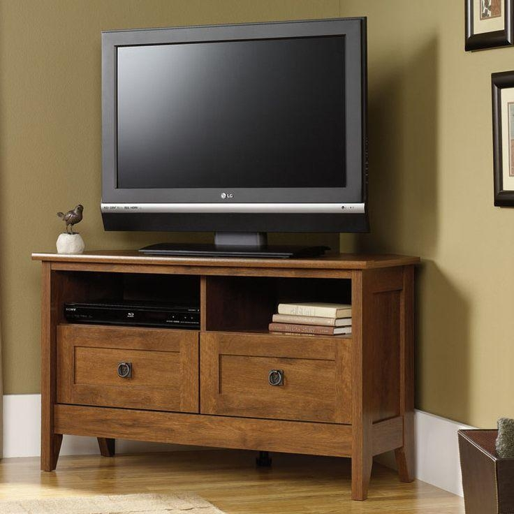 13 Best Tv Stands Images On Pinterest | Media Stands, Tv Stands With Most Recent Corner Oak Tv Stands For Flat Screen (Image 1 of 20)