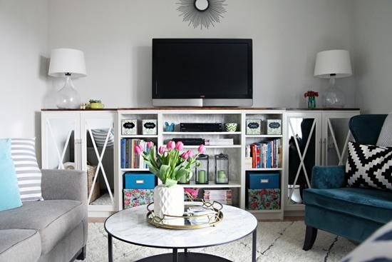 13 Diy Plans For Building A Tv Stand | Guide Patterns With 2018 Bookshelf And Tv Stands (Image 1 of 20)