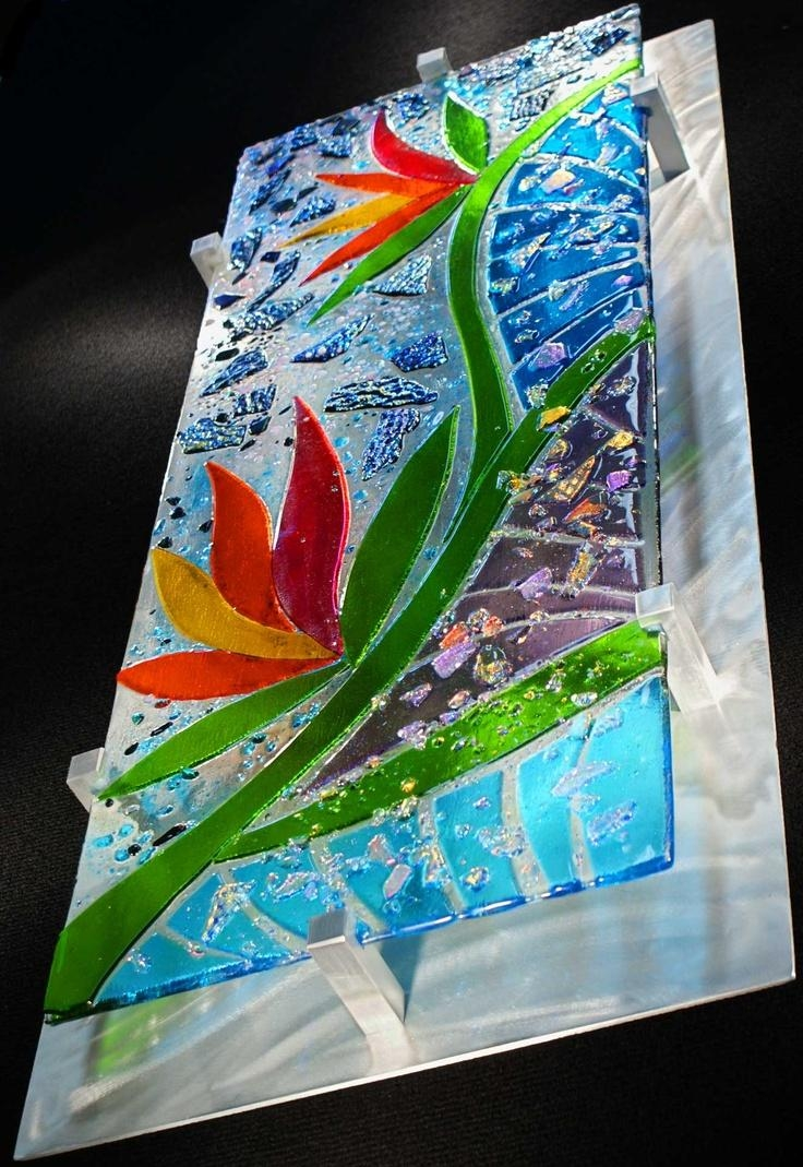 130 Best Fused Glass Wall Art Images On Pinterest | Stained Glass Intended For Contemporary Fused Glass Wall Art (Image 1 of 20)