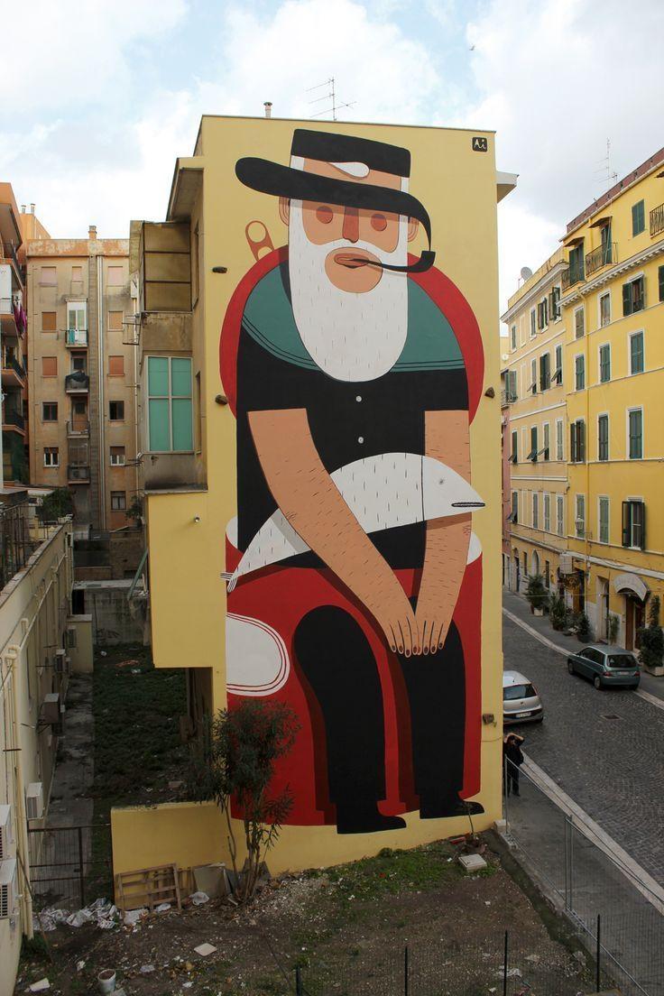 136 Best A – Urban Art ( 2 ) Images On Pinterest | Urban Art Inside Italian Art Wall Murals (Image 1 of 20)