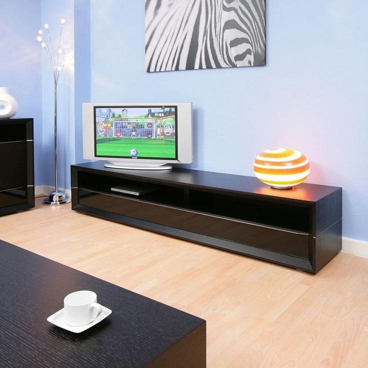 14 Best Av Images On Pinterest | Tv Stands, Tv Cabinets And Tv Units With Regard To Best And Newest Long Black Tv Stands (View 5 of 20)