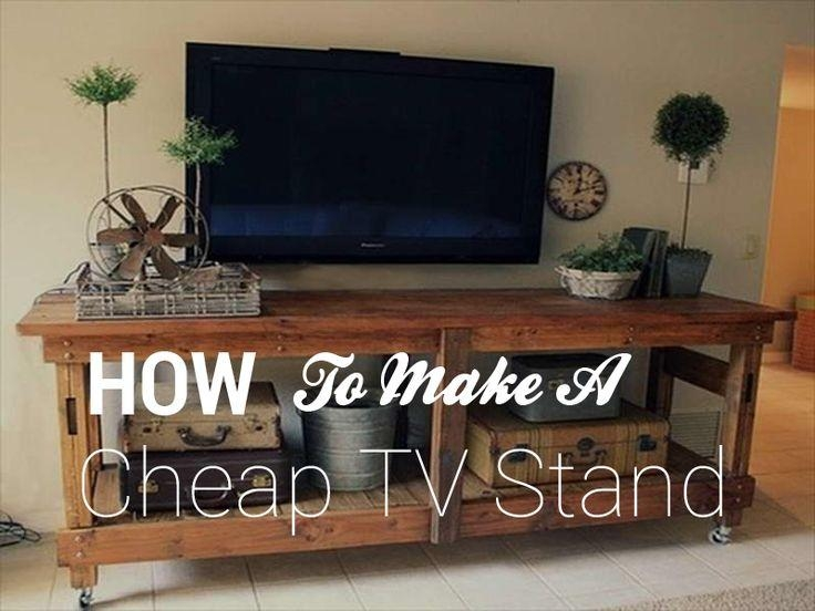 14 Best Tv Stand Images On Pinterest | Industrial Tv Stand, Rustic Pertaining To Latest Cheap Wood Tv Stands (Image 1 of 20)
