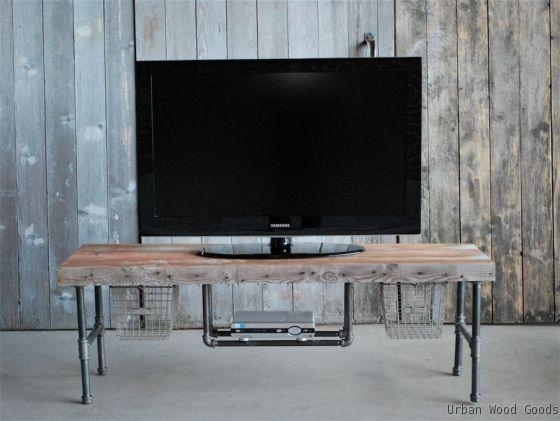 14 Best Tv Stand Images On Pinterest | Industrial Tv Stand, Tv Regarding Latest Cast Iron Tv Stands (Image 1 of 20)