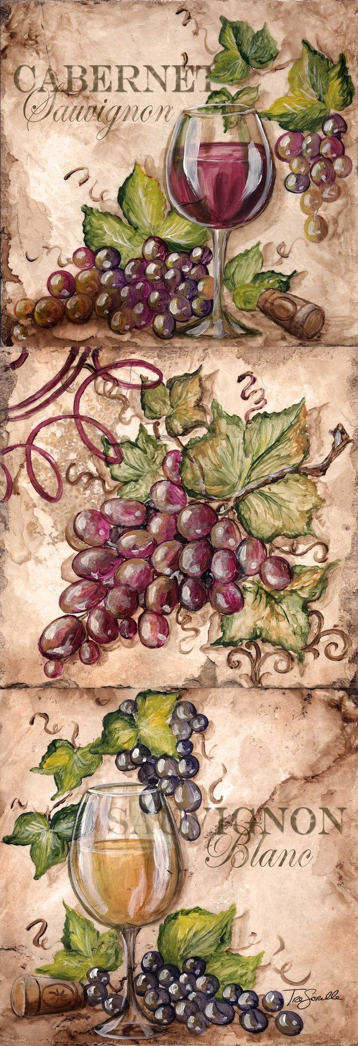 141 Best Wine & Olive Images On Pinterest | Kitchen, Pictures And Throughout Grape Colour Wall Art (Image 2 of 20)