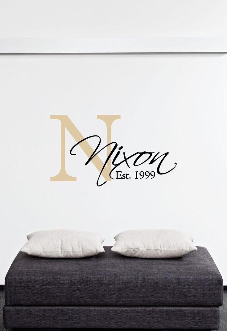 148 Best Monogram|Name|Initials Vinyl Decalsthe Vinyl Company Inside Custom Last Name Wall Art (Image 1 of 20)