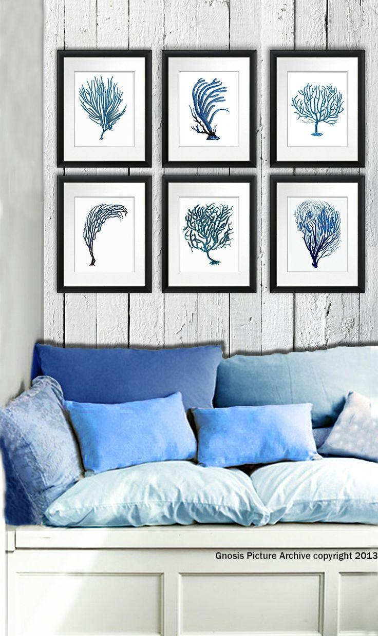 15 Best Sea Life Octopus & Squid Wall Art Prints Images On Intended For Seashell Prints Wall Art (Image 1 of 20)