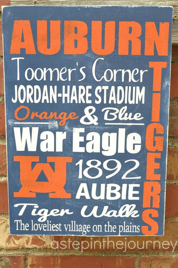 151 Best War Eagle Images On Pinterest | Auburn Tigers, Auburn With Auburn Wall Art (View 15 of 20)