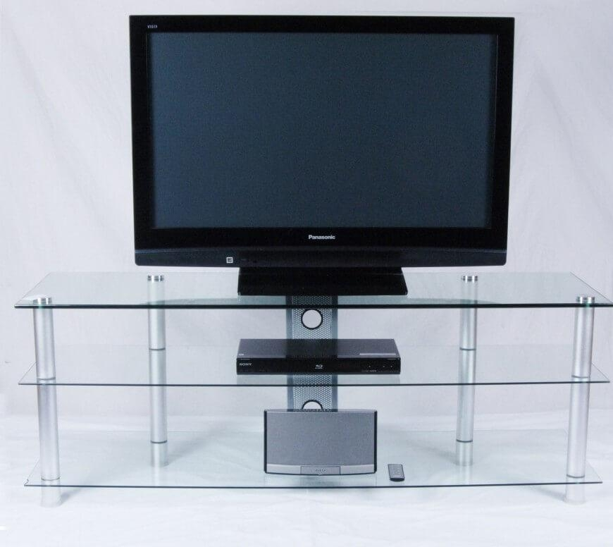 16 Types Of Tv Stands (Comprehensive Buying Guide) Pertaining To Most Current Smoked Glass Tv Stands (View 6 of 20)