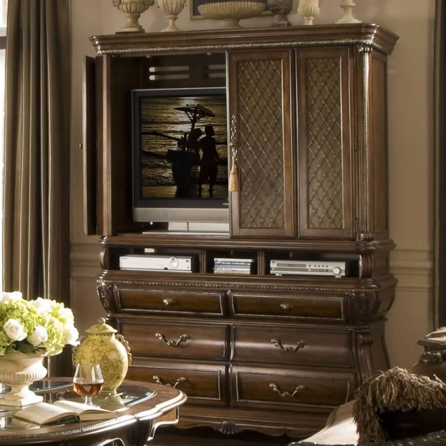 16 Types Of Tv Stands (Comprehensive Buying Guide) Throughout Newest Tv Hutch Cabinets (Image 1 of 20)