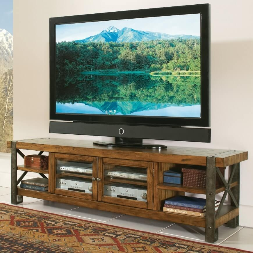 16 Types Of Tv Stands (Comprehensive Buying Guide) Within Most Recent Rustic Wood Tv Cabinets (Image 1 of 20)