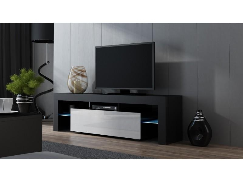 160 Width Modern Tv Stand With Led – Milano 160 – Concept Muebles In Newest Modern Tv Stands (Image 2 of 20)