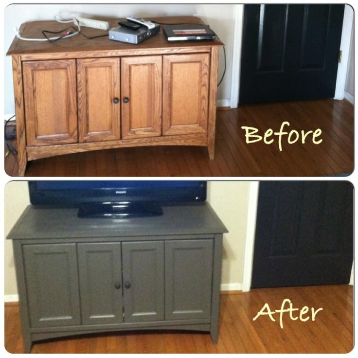 17 Best Tv Stand Makeovers Images On Pinterest | Tv Stands, Paint With Regard To Current Painted Tv Stands (Image 1 of 20)