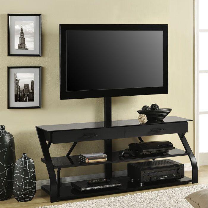 17 Best Tv Stands Images On Pinterest   Modern Tv Stands, Glass Intended For Latest Modern Tv Stands With Mount (Image 1 of 20)
