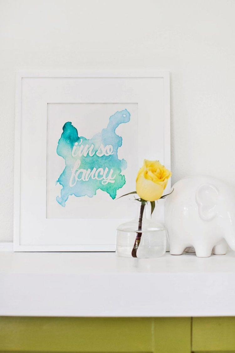 17 Diy Watercolor Wall Art Pieces To Get Inspired – Shelterness Inside Diy Watercolor Wall Art (Image 2 of 20)