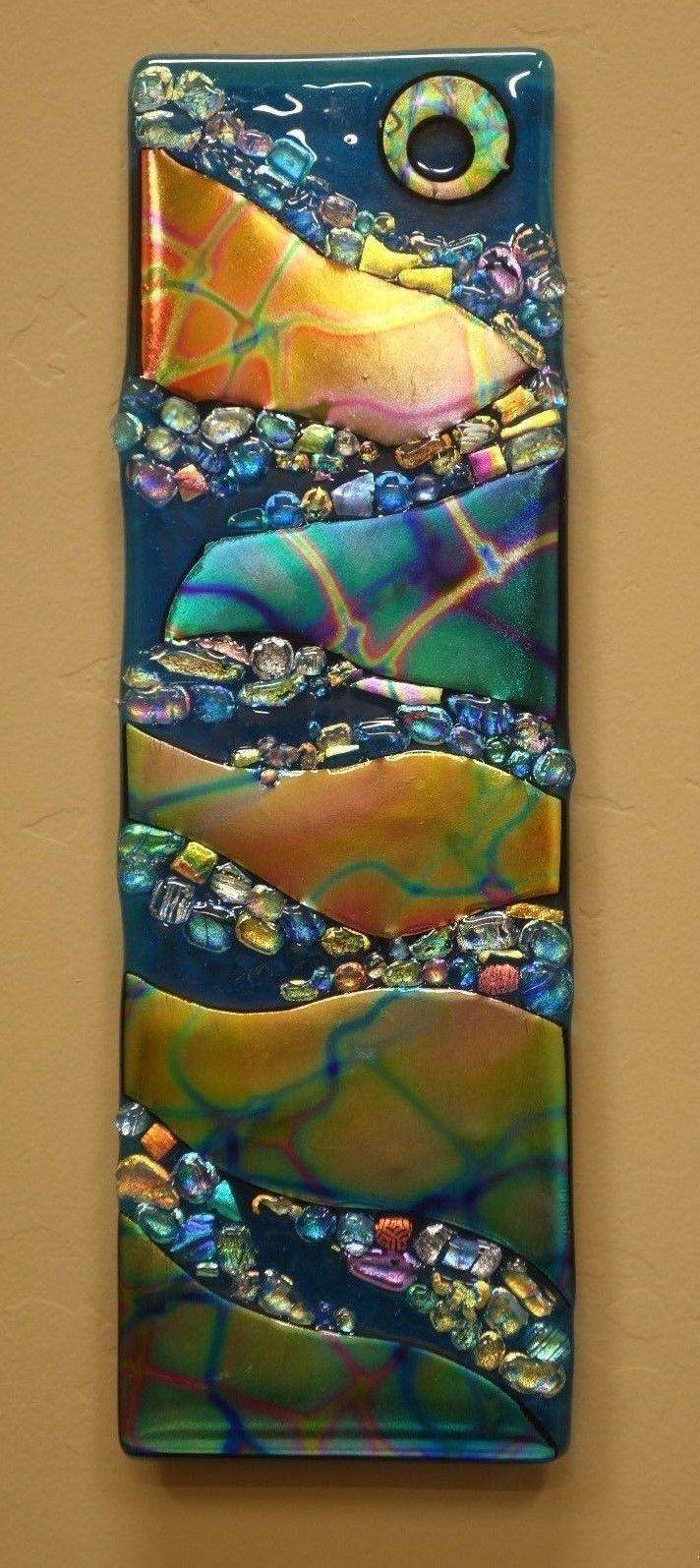 1775 Best Fused Glass & Etc Images On Pinterest   Stained Glass Intended For Fused Glass Wall Art Devon (Image 3 of 20)