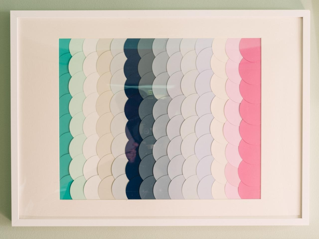 18 Genius Wall Decor Ideas | Hgtv's Decorating & Design Blog | Hgtv With Regard To Paint Swatch Wall Art (Image 1 of 20)