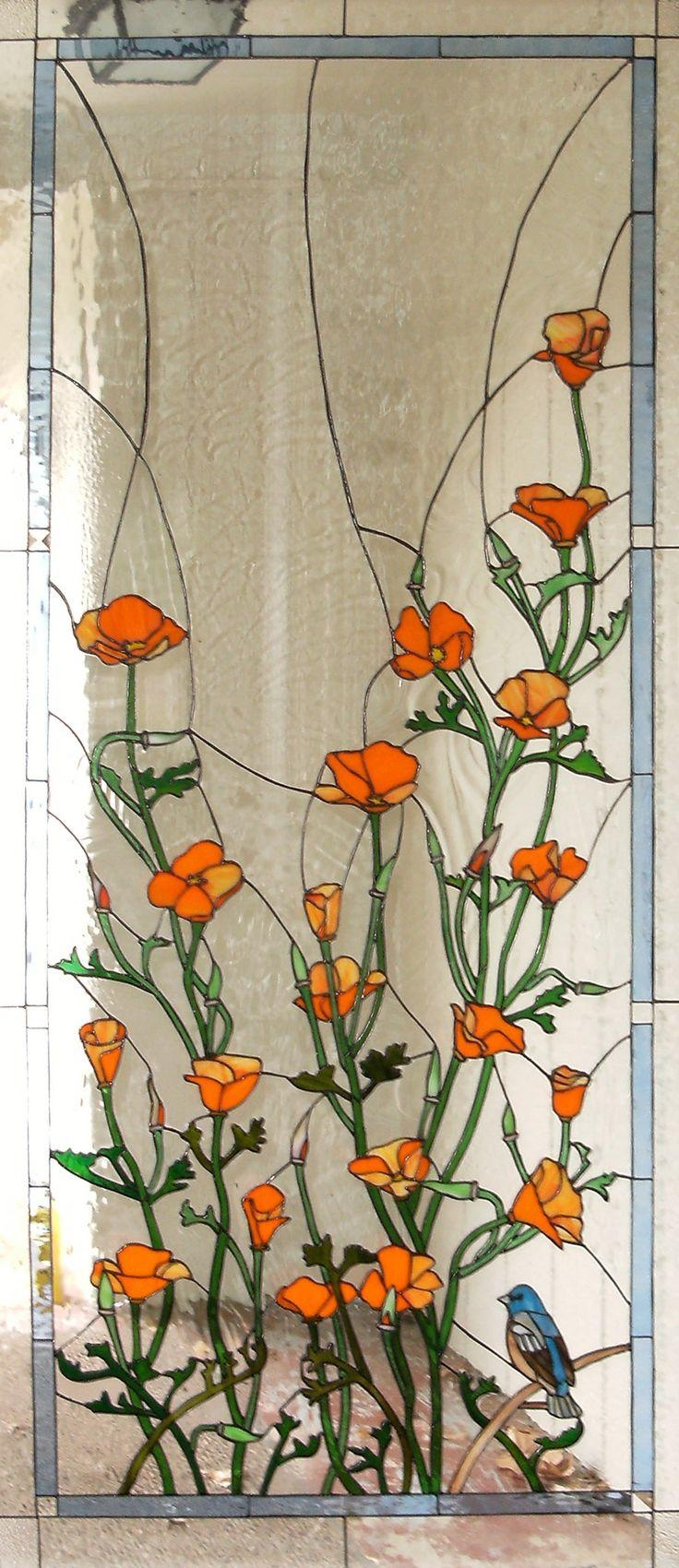 1899 Best Stained Glass Images On Pinterest | Stained Glass, Fused Regarding Fused Glass Flower Wall Art (View 5 of 20)