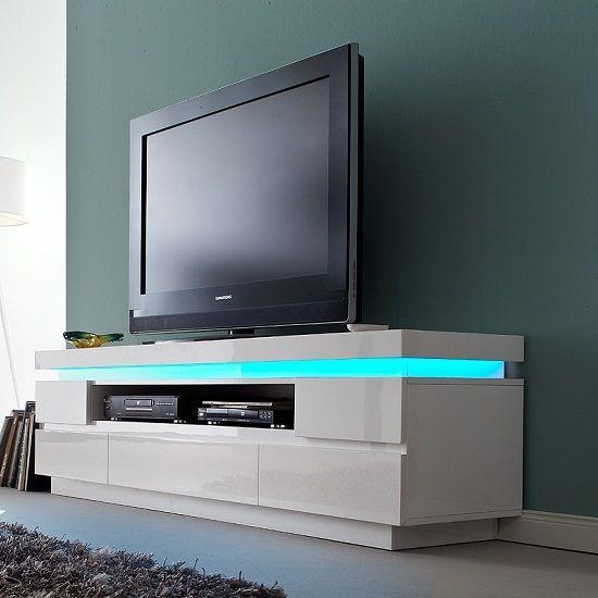 20 Photos Modern White Gloss Tv Stands Tv Cabinet And