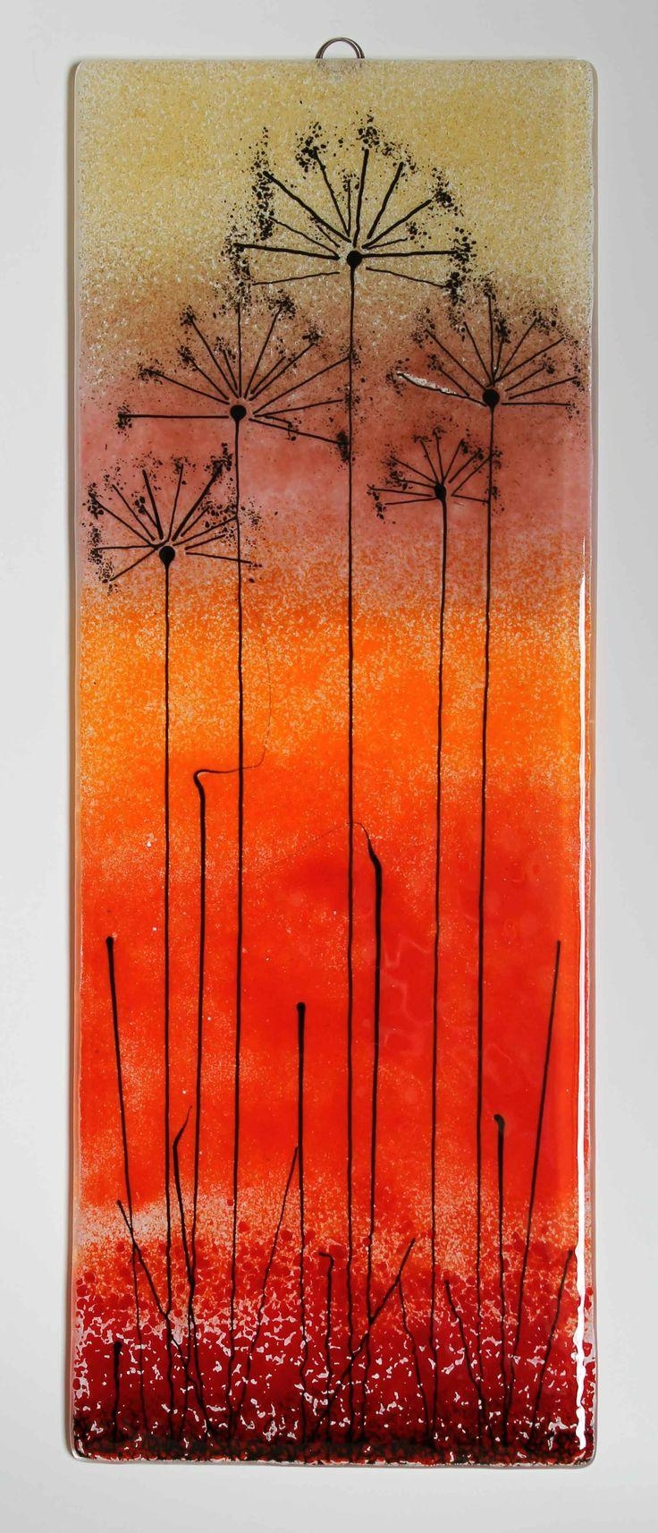 1914 Best Fused Glass – Artsy Fartsy Images On Pinterest | Stained Throughout Fused Glass Flower Wall Art (View 2 of 20)