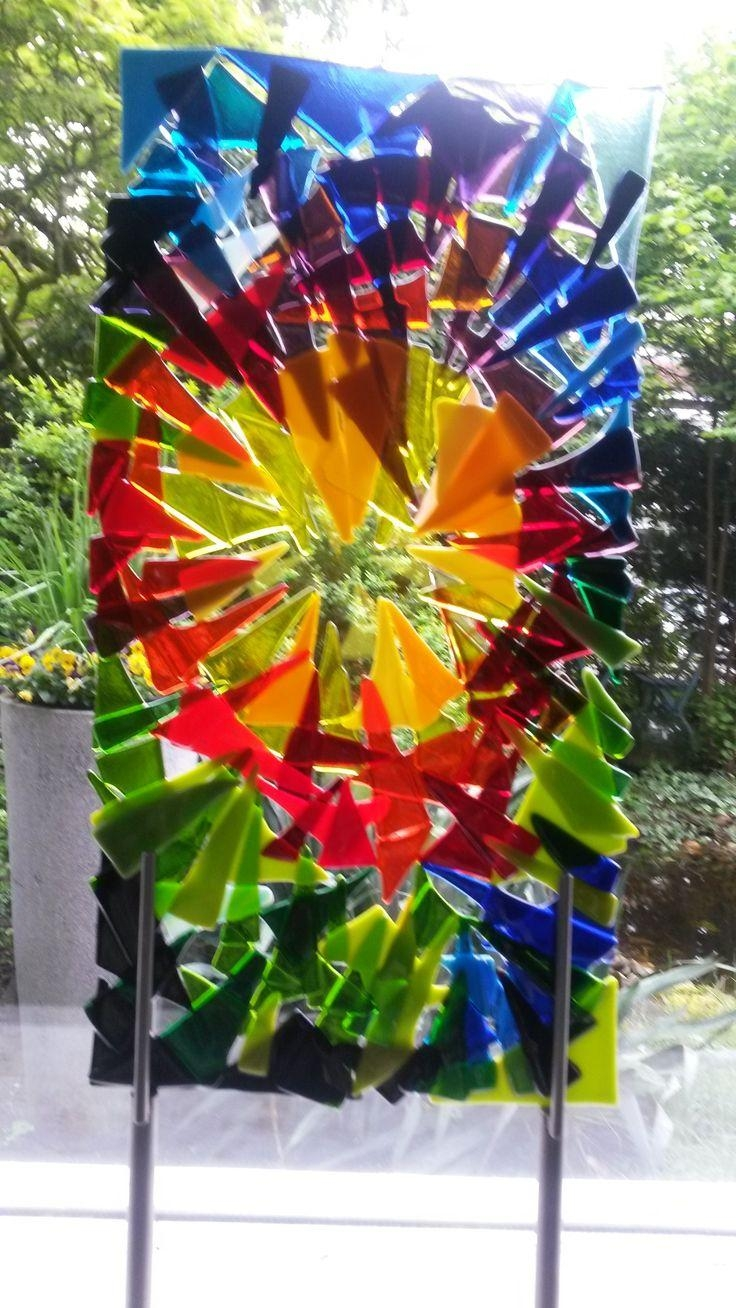 1968 Best Fused Glass Ideas 5 Images On Pinterest | Fused Glass Regarding Fused Glass Flower Wall Art (View 19 of 20)