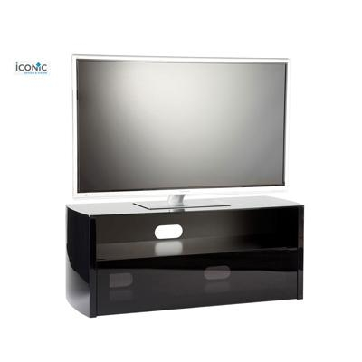 199.00 - Iconic Tv Stands Acacia Series Tv Cabinet Black Gloss throughout Most Popular Iconic Tv Stands