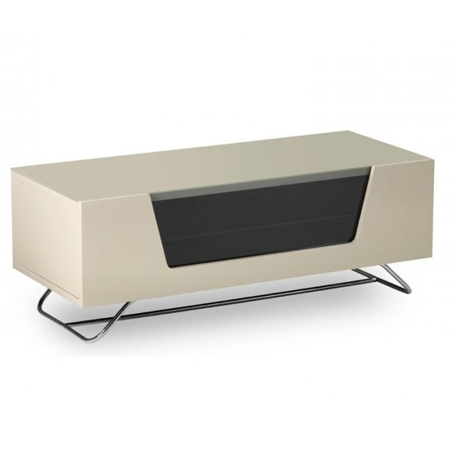 2 High Gloss Ivory Tv Stand With Best And Newest Tv Unit 100Cm Width (Image 1 of 20)