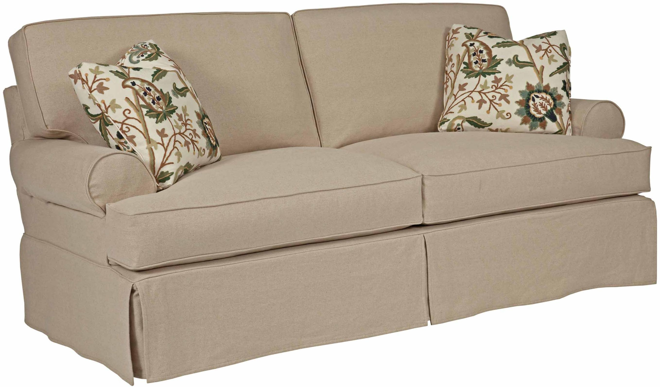 2 Piece T Cushion Sofa Slipcover – Sofas Throughout 2 Piece Sofa Covers (Image 3 of 27)