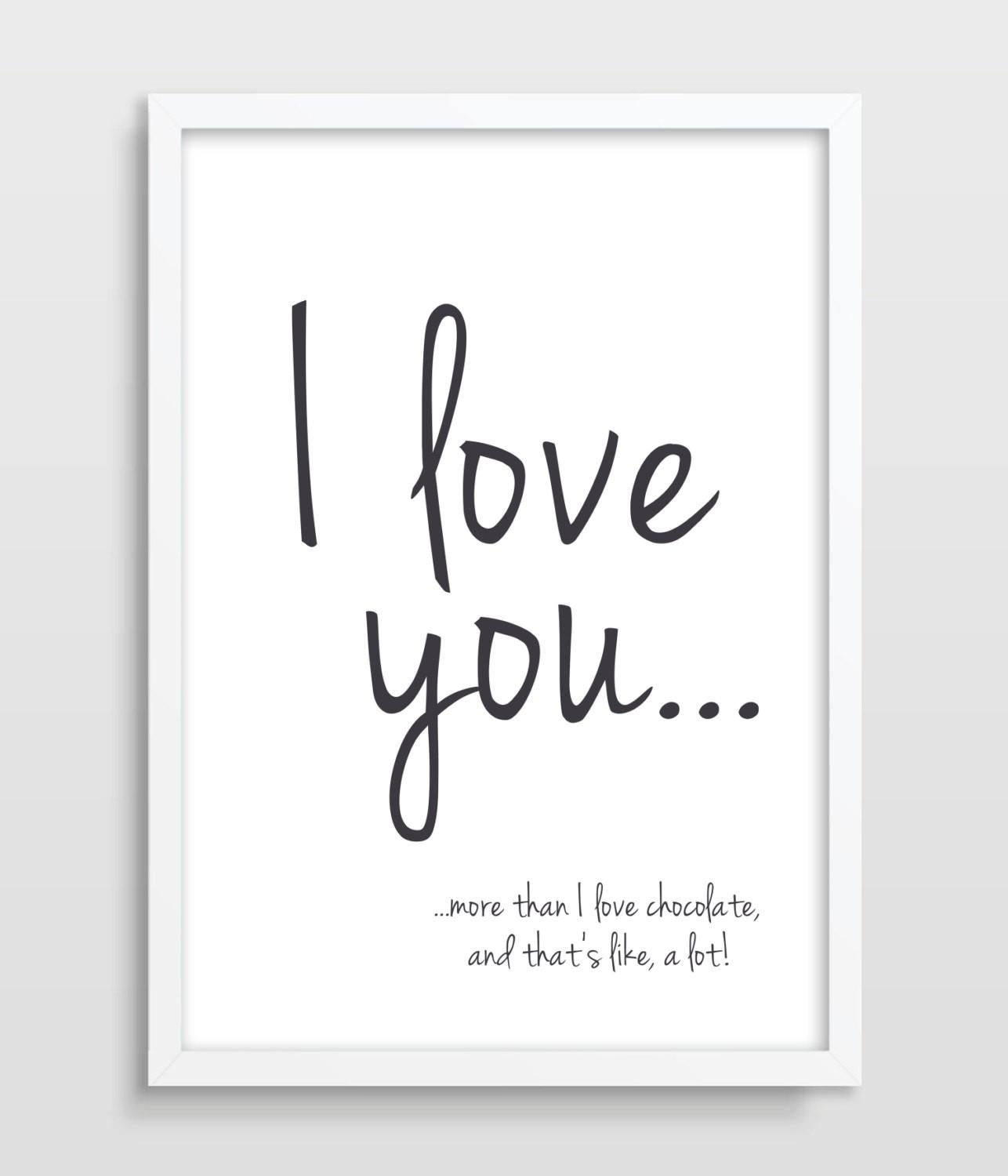 2016 Valentine's Day Typographic Print I Love You More Than – Wall For I Love You More Wall Art (Image 1 of 20)